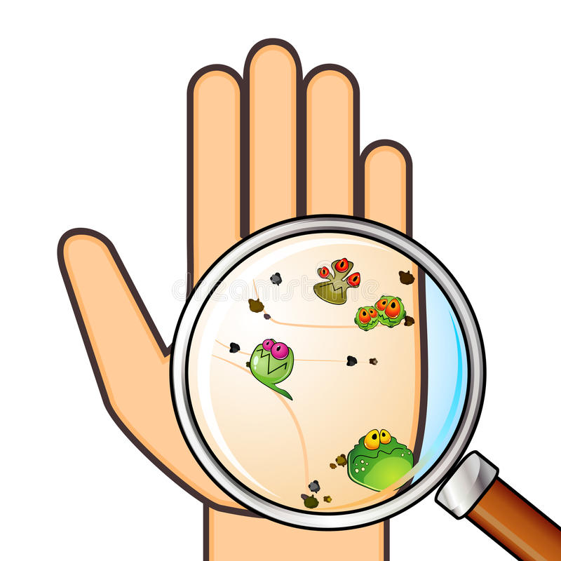 Dirty hand vector illustration