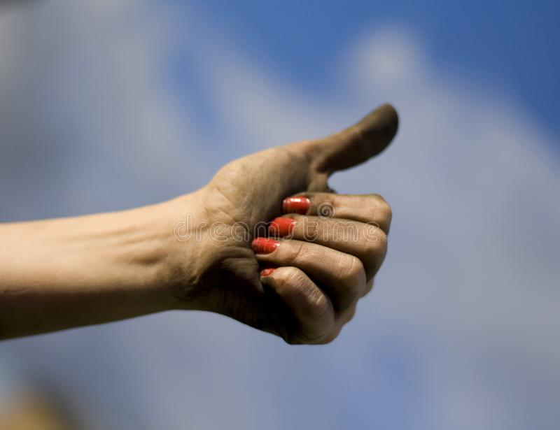 Dirty hand royalty free stock image