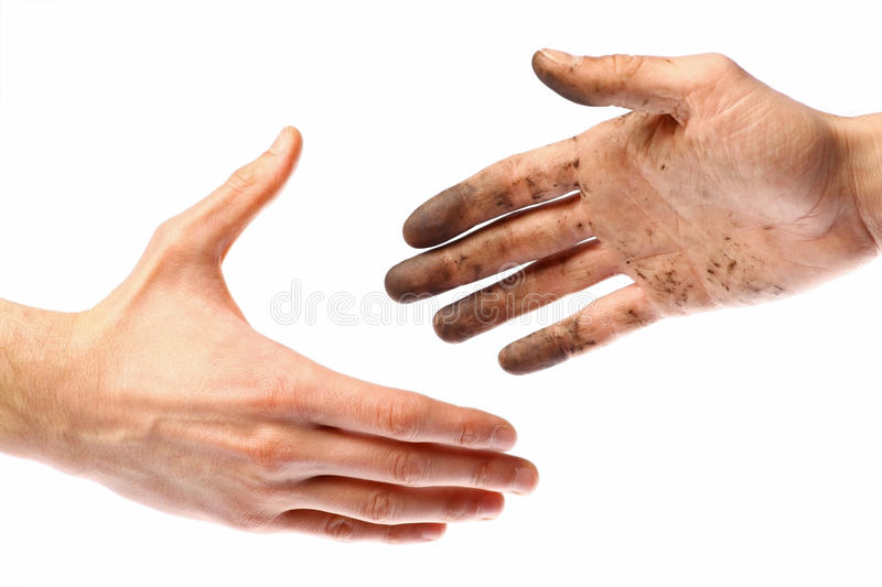 Dirty Handshake Stock Images