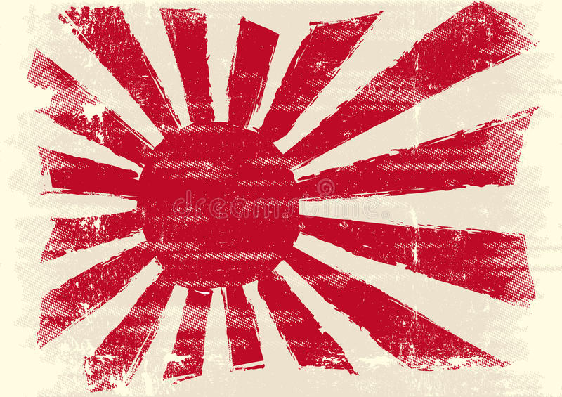 Dirty japan flag stock illustration
