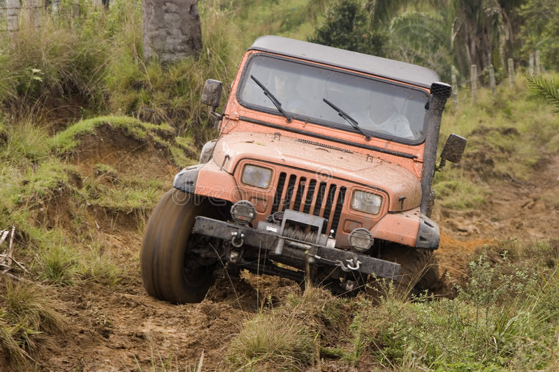 Download Dirty jeep on competition stock photo. Image of dirty - 5105750