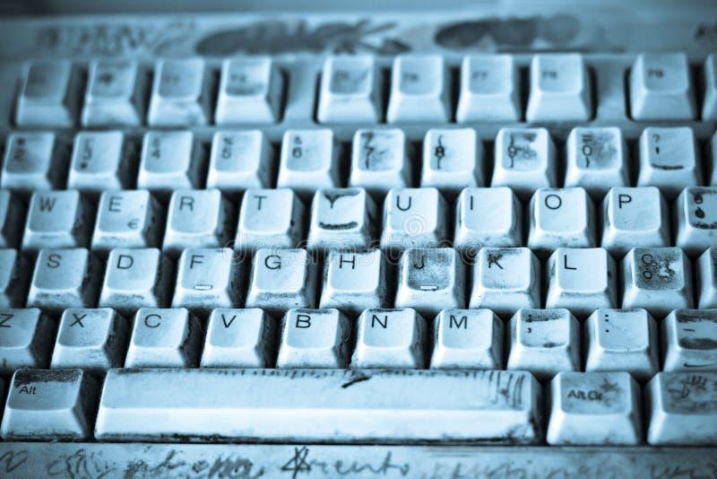 Dirty keyboard royalty free stock photo