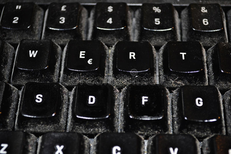 Download Dirty keyboard stock photo. Image of vintage, up, rusty - 28011524