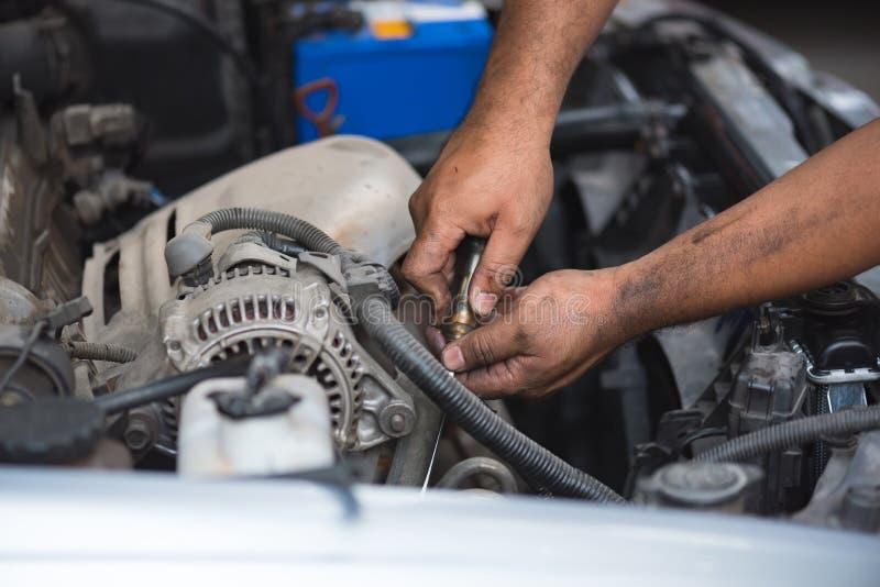 Dirty mechanic hand royalty free stock photos