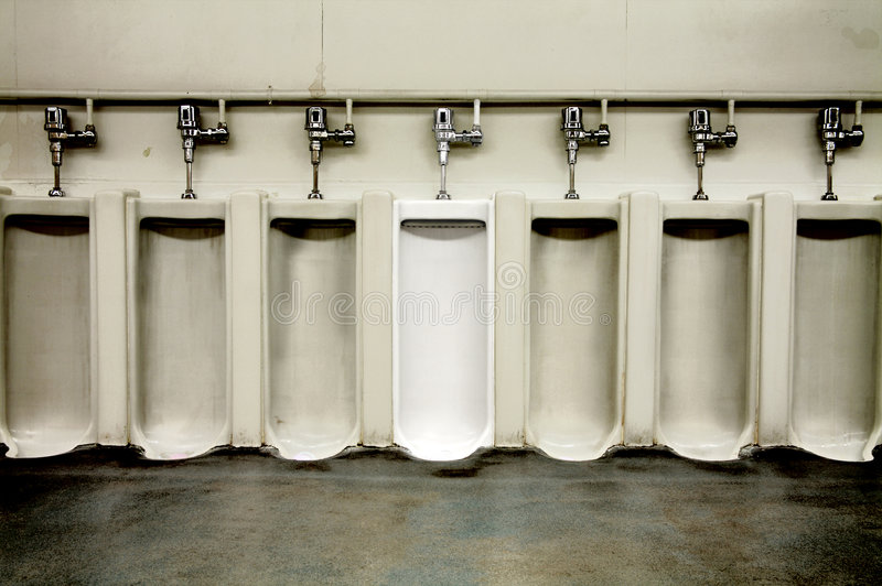 Download Dirty Men's Bathroom With One Clean Urinal Stock Image - Image of urinal, dismal: 4790883
