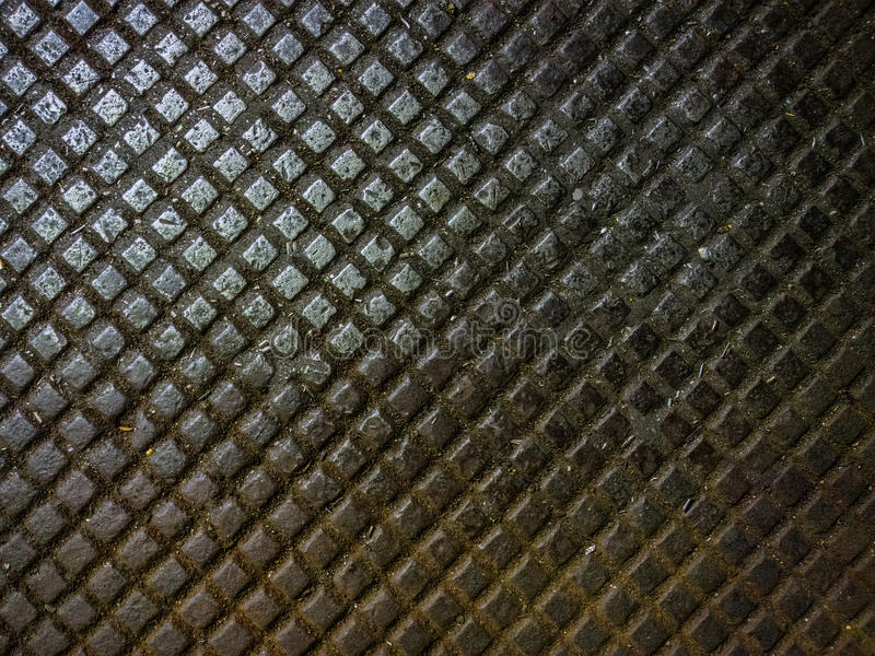Dirty metal cast iron floor plate background stock photography