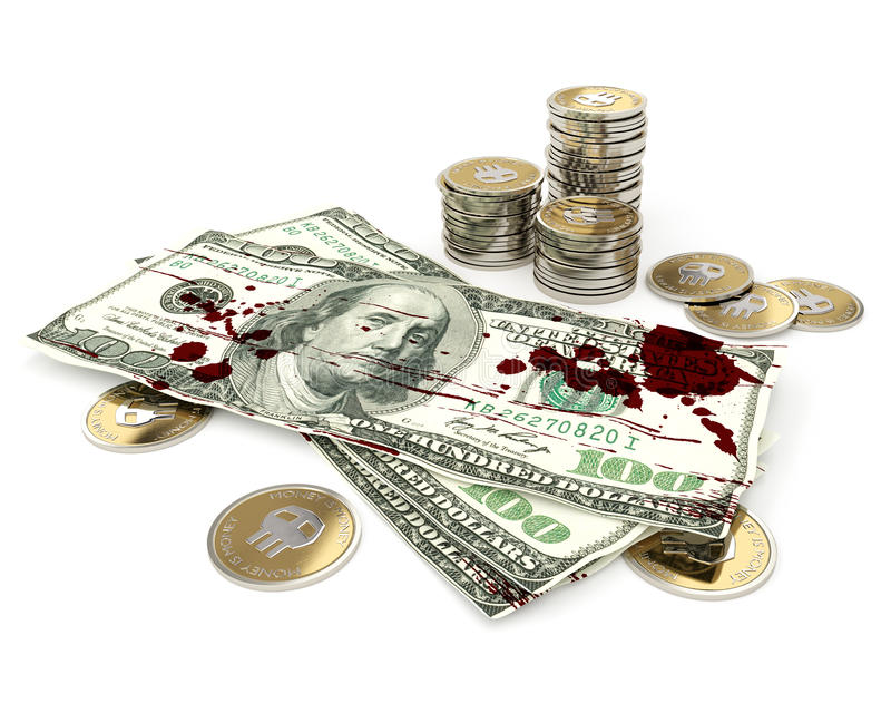 Dirty Money Stock Illustration