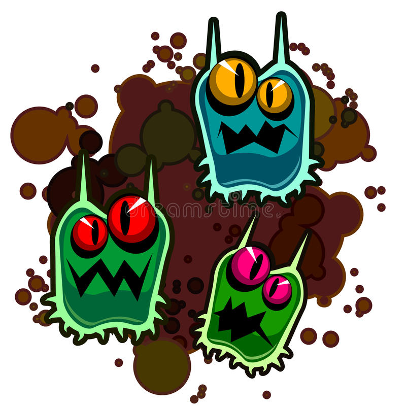 Dirty monsters vector illustration