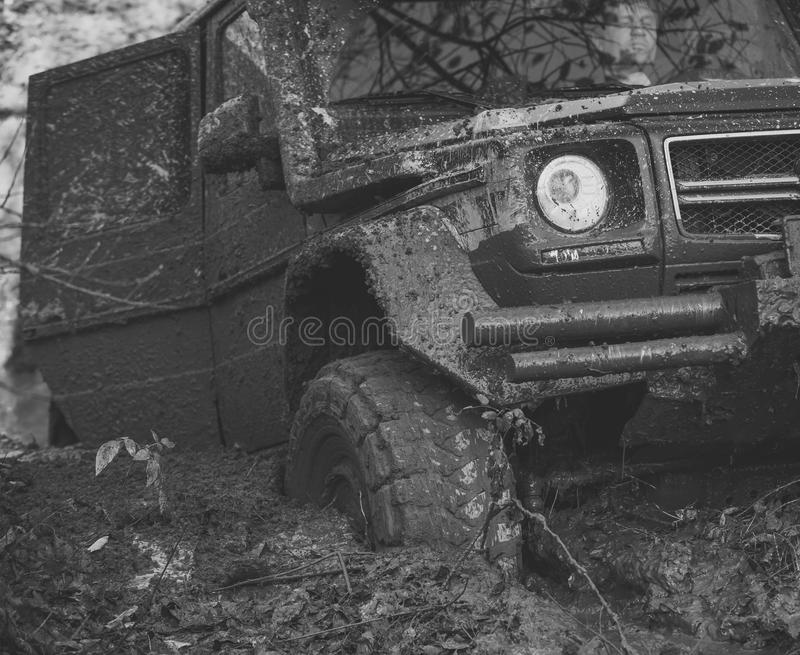 Download Dirty Offroad Car With Open Door Stuck In Deep Rut. Stock Image - Image  sc 1 st  Dreamstime.com & Dirty Offroad Car With Open Door Stuck In Deep Rut. Stock Image ...