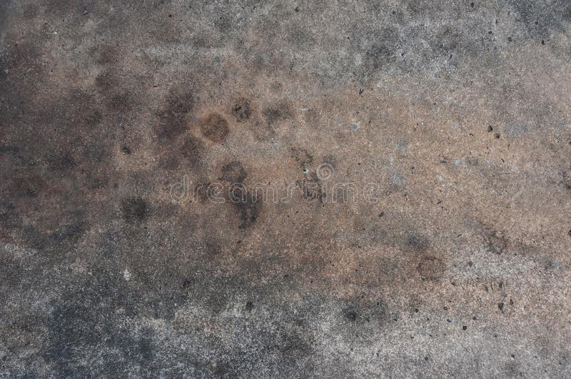 Dirty oil stain Cement floor texture royalty free stock image