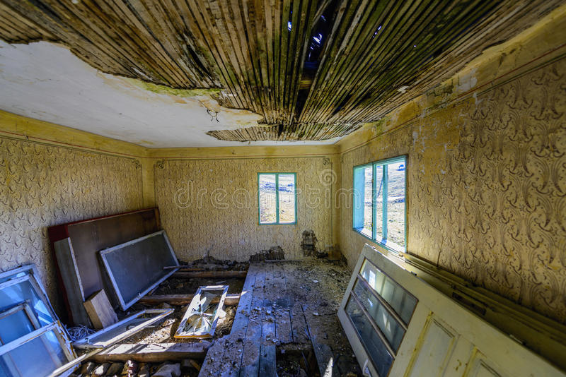 A Dirty Old Ruined Room Royalty Free Stock Photo