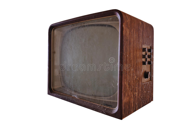 Download Dirty Old TV Stock Photo - Image: 23487780