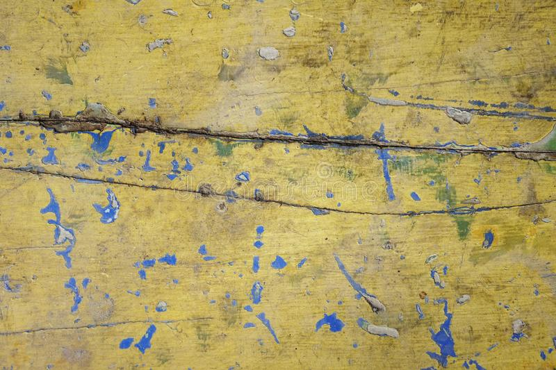 Dirty old yellow wood background. texture of wood use as natural background royalty free stock photography