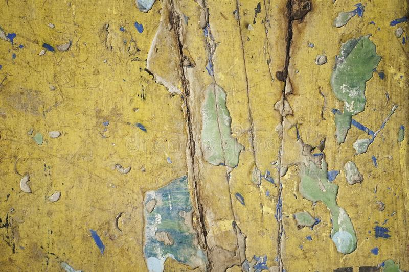 Dirty old yellow wood background. texture of wood use as natural background royalty free stock photos