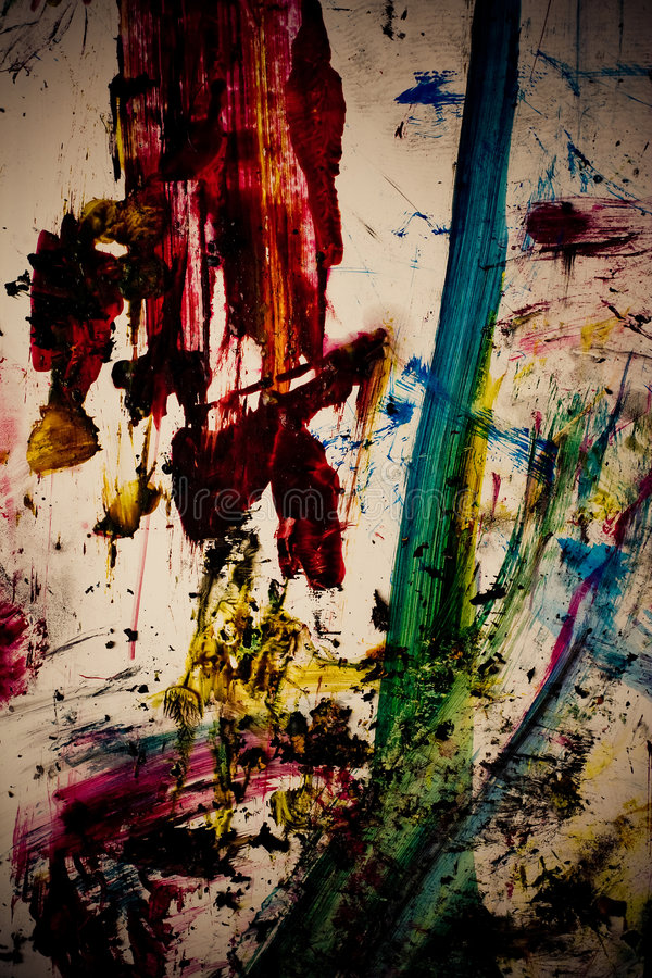 Download Dirty Paint Color Strokes Stock Photography - Image: 3429432