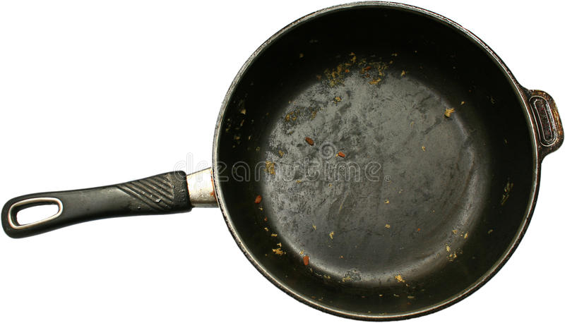 Dirty pan royalty free stock photography