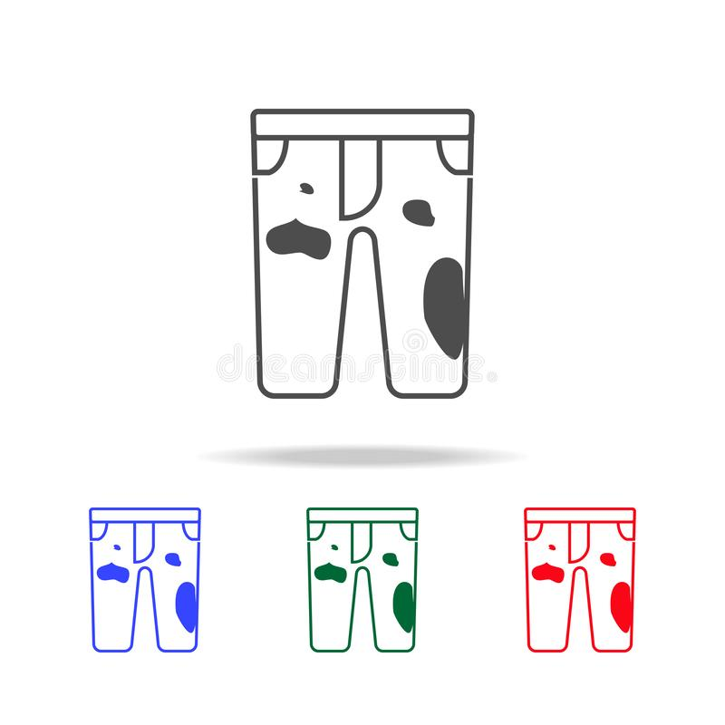 Dirty pants icon. Elements of washing in multi colored icons. Premium quality graphic design icon. Simple icon for websites, web. Design, mobile app on white vector illustration