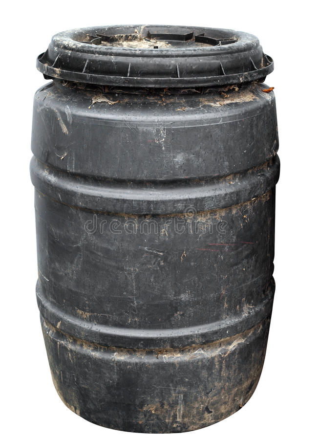 Dirty Plastic Drum royalty free stock image