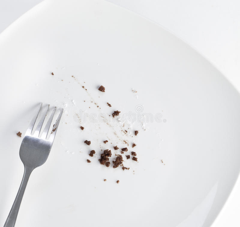 Download Dirty plate stock photo. Image of empty, fork, crumbs - 24272078