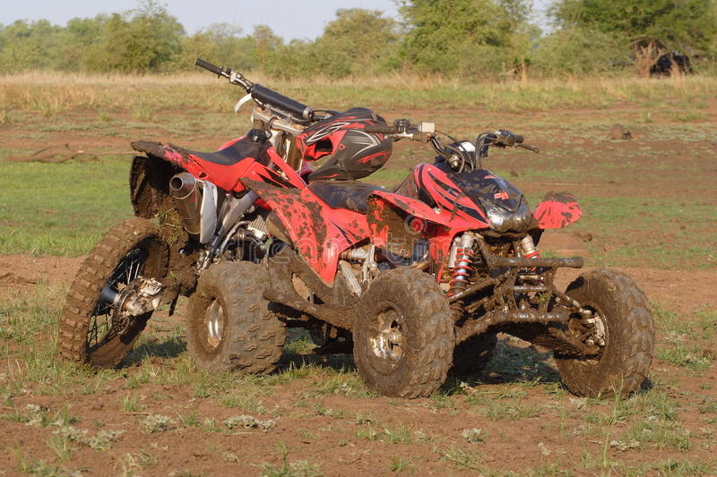 Dirty Quad and Off-road bike stock photo
