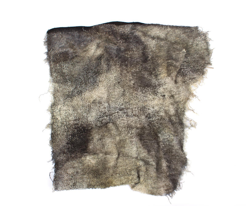 A dirty rag. On a white background royalty free stock image