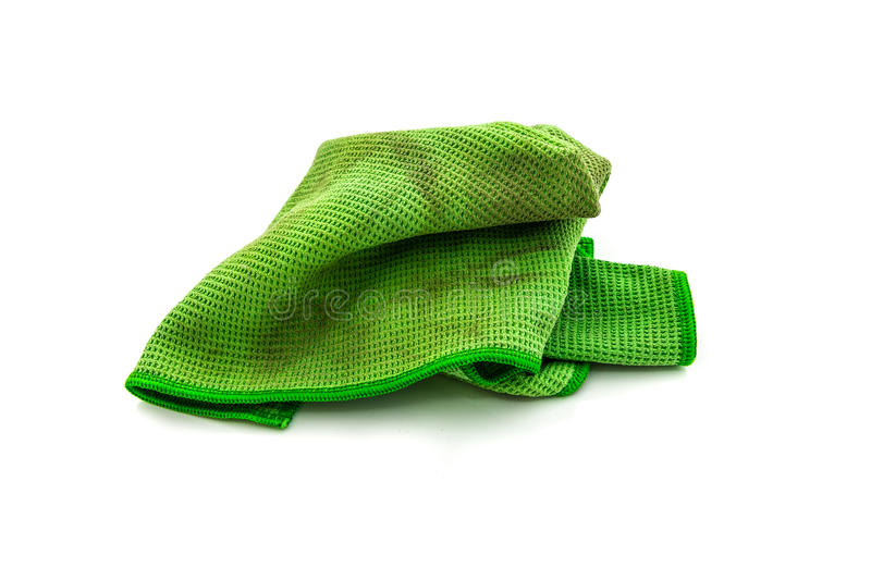 Dirty rag. Isolated on white background royalty free stock photos