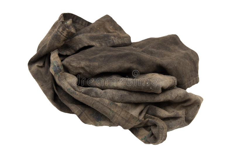 Dirty rag. On a white background royalty free stock photo