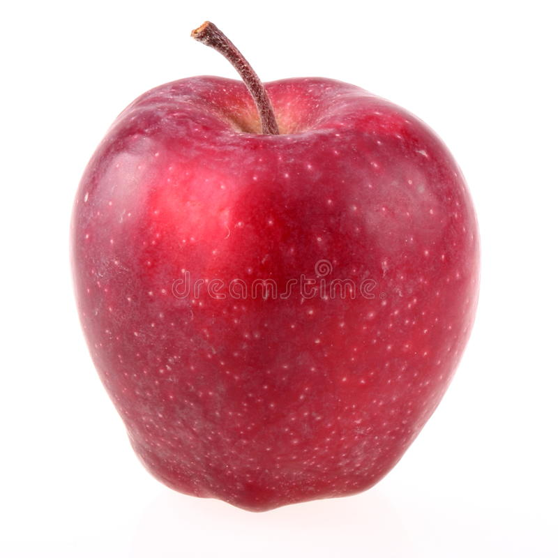 Dirty red apple stock images