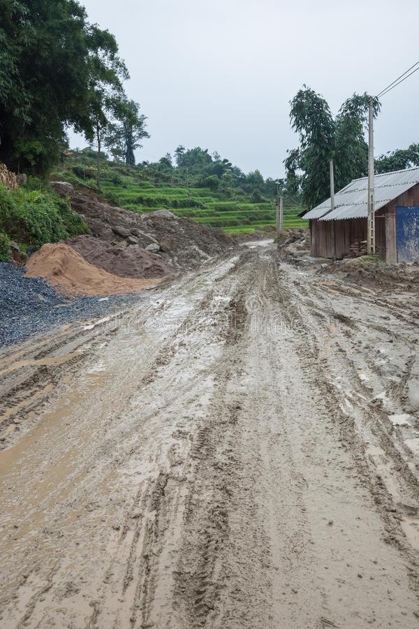 Download Dirty Road stock image. Image of electricity, paddy, local - 26137999