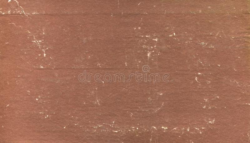 Dirty and scratched old brown book cover in bad condition royalty free stock images