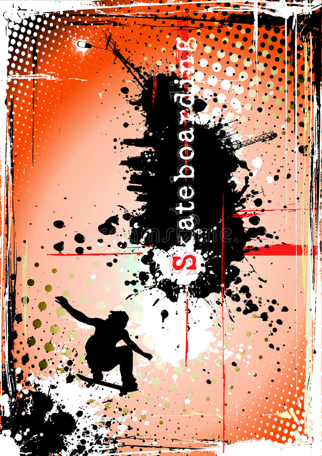 Download Dirty skateboarding poster stock vector. Image of agile - 17466434