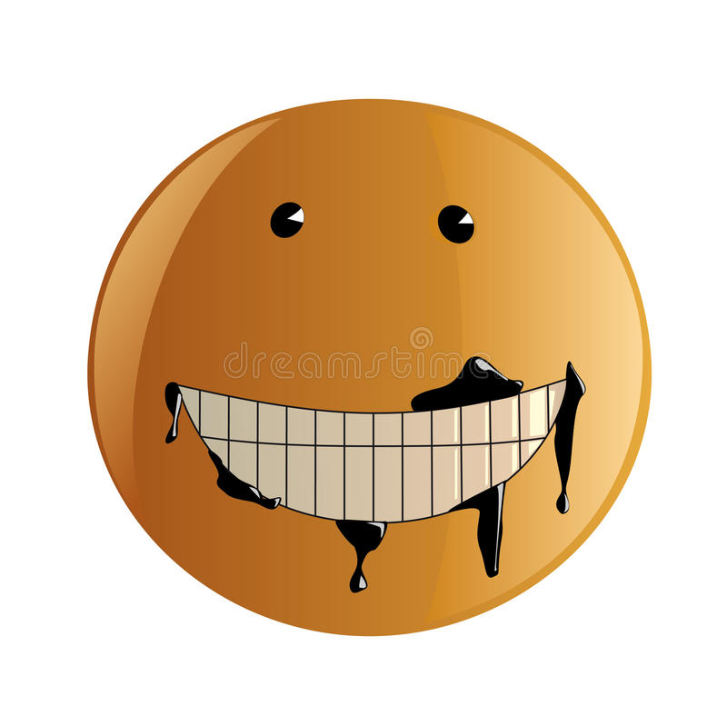 Dirty smile. Funny vector illustration of a soiled smile vector illustration