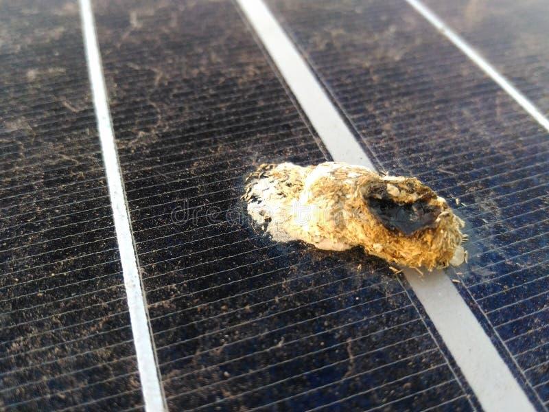 Dirty. Solar panel is dirty stock photos