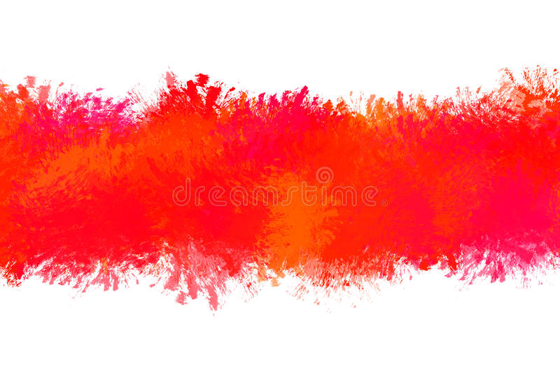 Dirty, stained red paint stroke grunge rectangle frame with splash vector illustration