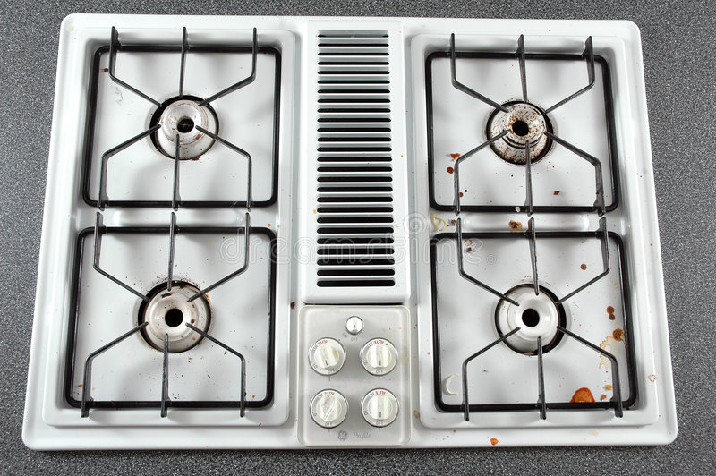 Download Dirty Stove Top stock image. Image of dirty, angle, kitchen - 503875