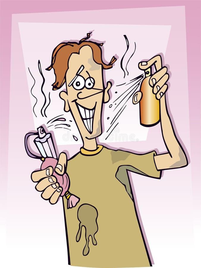 Dirty teenager boy stock illustration