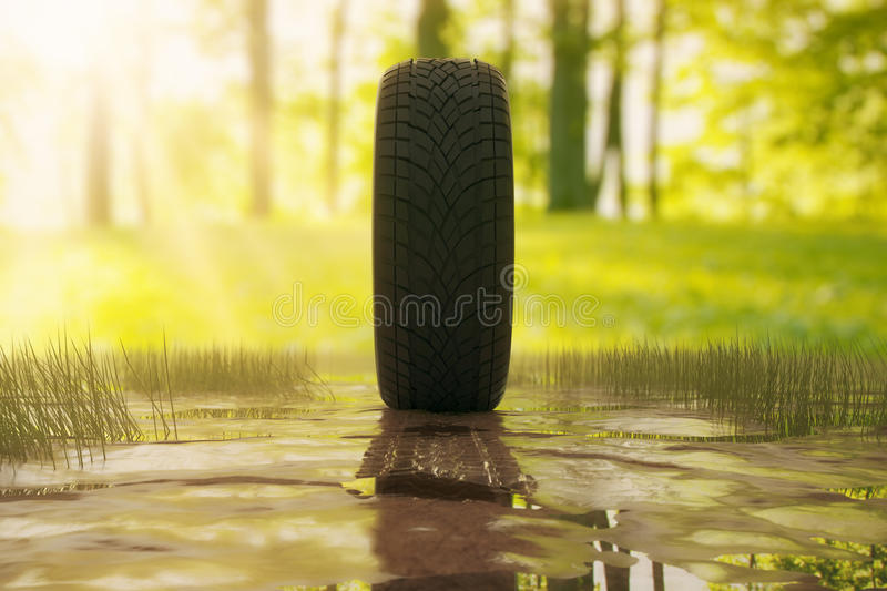 Dirty tire royalty free illustration
