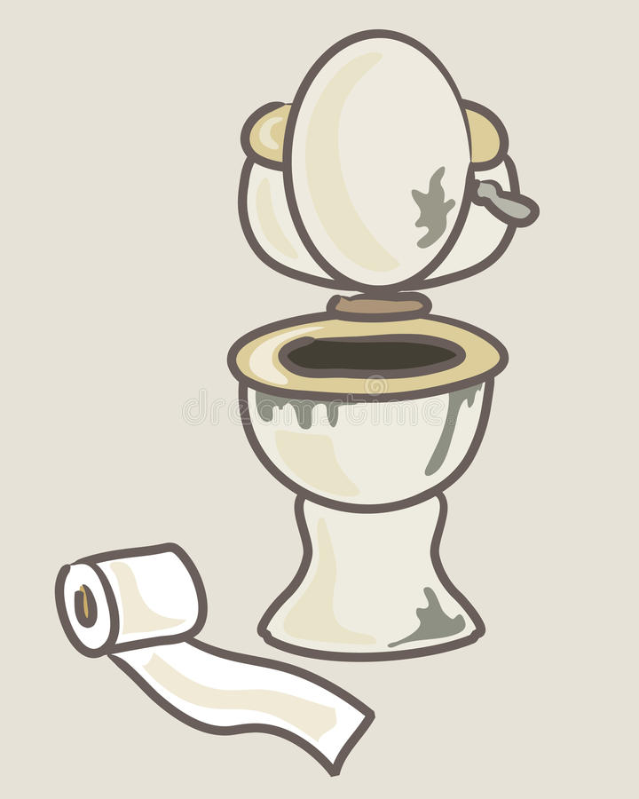 Download Dirty Toilet Stock Vector Illustration Of Flush Animated