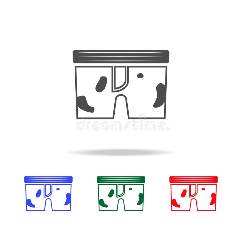 Dirty underwear icon. Elements of washing in multi colored icons. Premium quality graphic design icon. Simple icon for websites,. Web design, mobile app on vector illustration