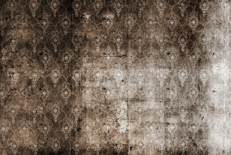 Dirty wallpaper. Old dirty wallpaper, gryngy wall royalty free stock images