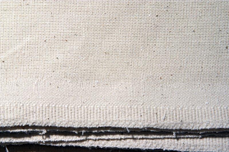 Dirty white coarse calico stock photo