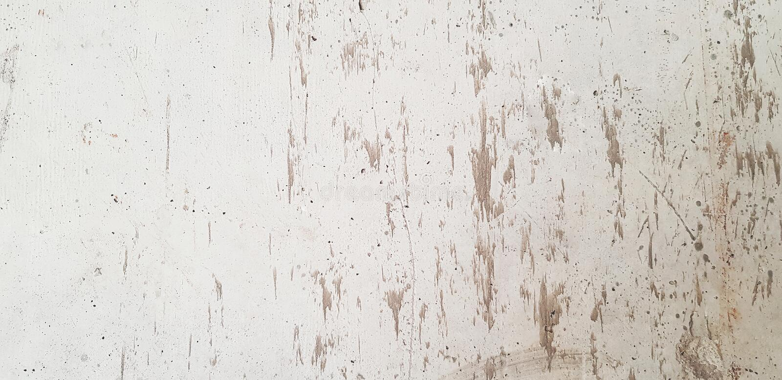 Dirty white wall or wallpaper for background. Hard Surface stock photo