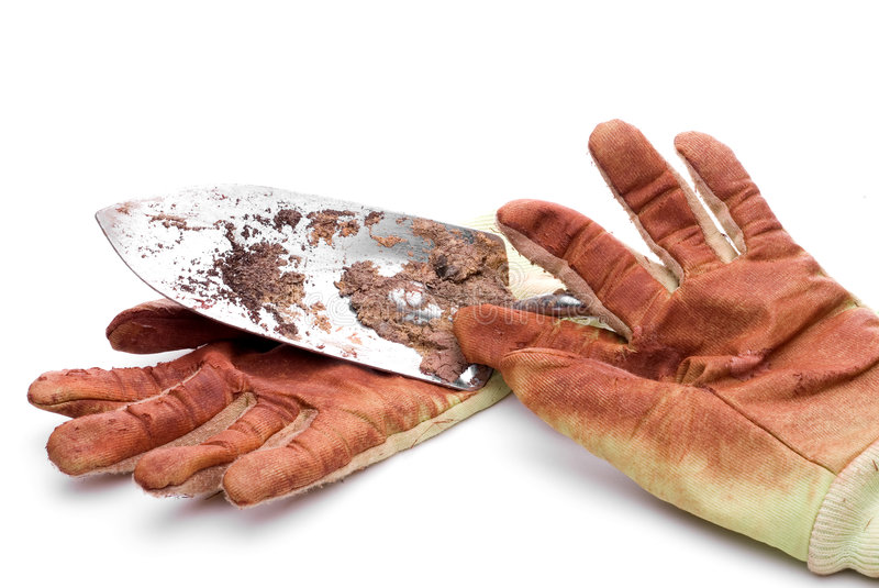 Download Dirty Worn Gardening Gloves Stock Image - Image of shovel, soil: 5327061