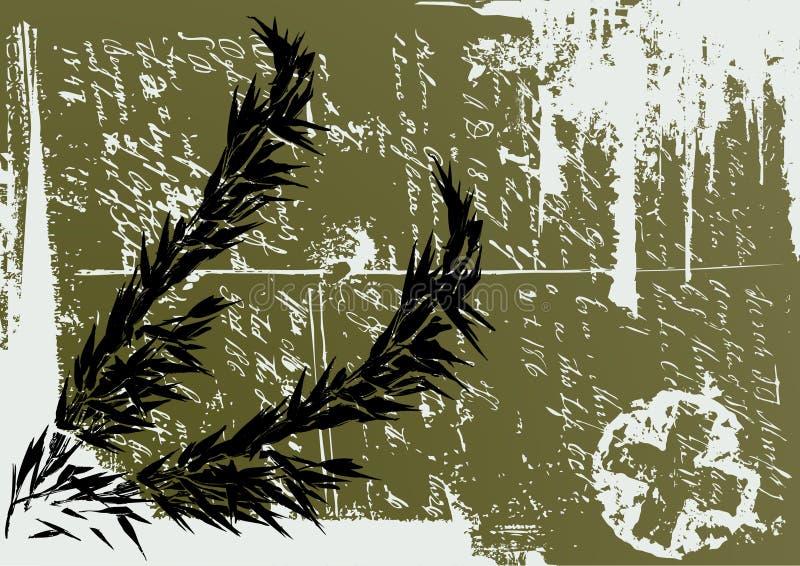 dirtyfloral ramowy wektora ilustracji
