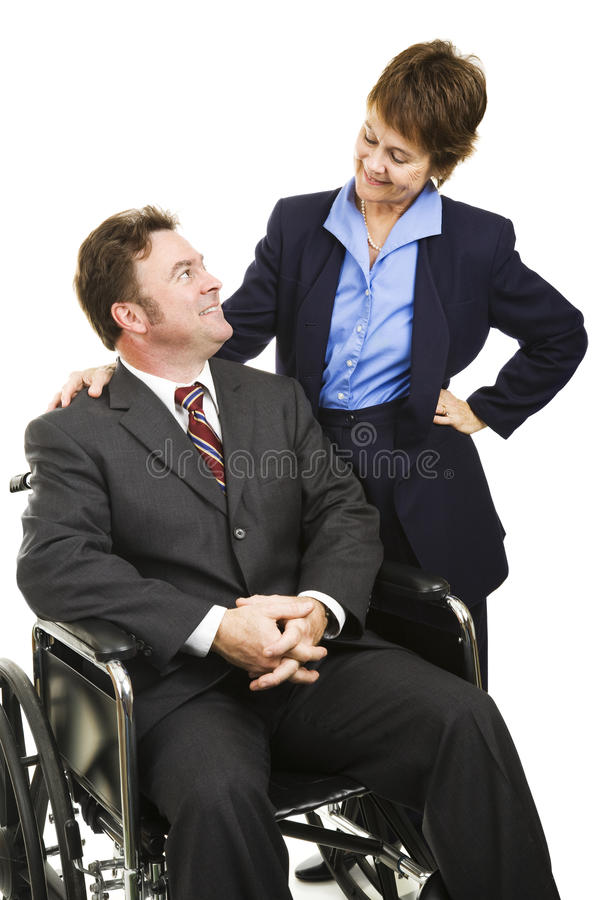 Disability in Business stock photography