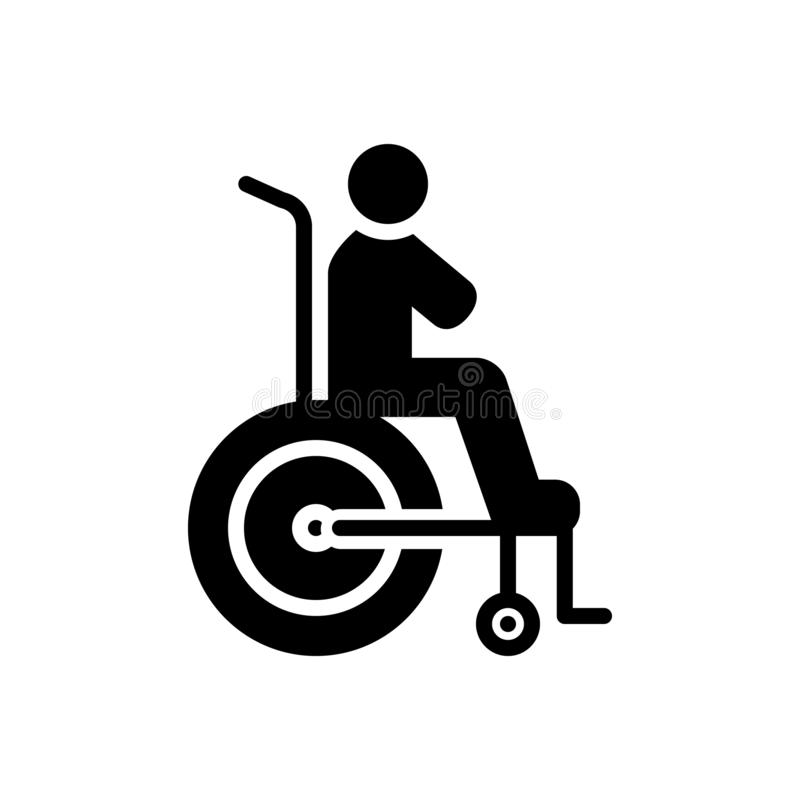 Black solid icon for Disability, reasonable and accommodation. Black solid icon for Disability, miscellaneous, logo,  reasonable and accommodation vector illustration
