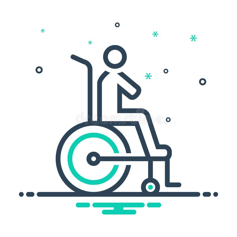 Black mix icon for Disability, reasonable and accommodation. Black mix icon for Disability, logo, miscellaneous,  reasonable and accommodation stock illustration