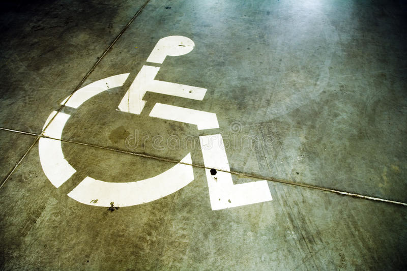 Disability Sign On Grunge Background Royalty Free Stock Photography