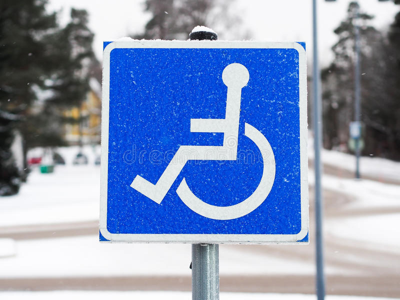 Download Disability Sign stock image. Image of access, snow, international - 37048263
