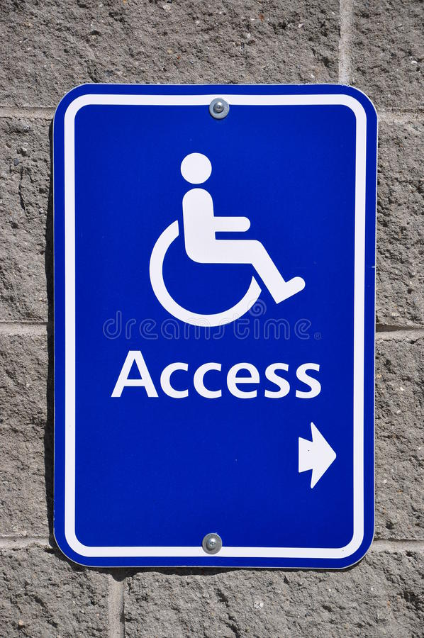 Download DISABLE ACCESS SIGN stock illustration. Image of sign - 21907122